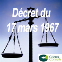 balance symbolisant la loi pour illustrer l'article sur le décret de 1967 sur le site internet coproconseils.fr