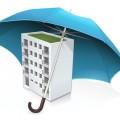 immeuble protégé par parapluie