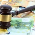 marteau de la justice et euros