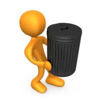 dessin 3d gardien concierge sort les poubelles