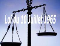 une balance - loi du 10 juillet 1965 - loi de 65