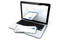 courrier arrivant à travers un écran - courrier électronique - recommandé électronique - LERAR